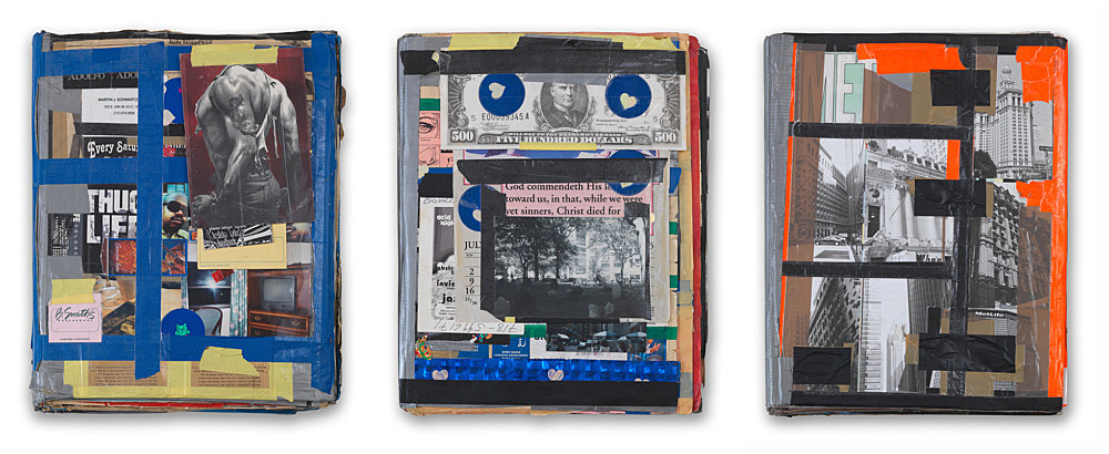 "Isa Genzken – ""I love New York, Crazy City"", 1995/1996 3 collaged artist books each 45 x 30 x 10 cm"
