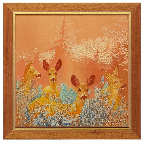 Udo Lefin – Ohne Titel, 1988 Pigment und Lack auf Holz 112 x 112 cm