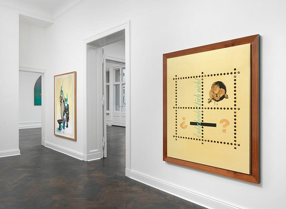 """Udo Lefin – """"Bilder und Zeichnungen 1983-1992"""" installation view Galerie Buchholz, Berlin 2014"""