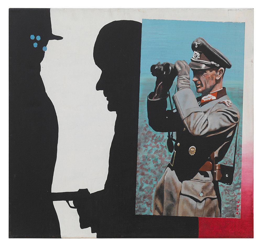"""Udo Lefin – """"Original und Fälschung"""", 1983 Öl auf Leinwand 60 x 70 cm"""