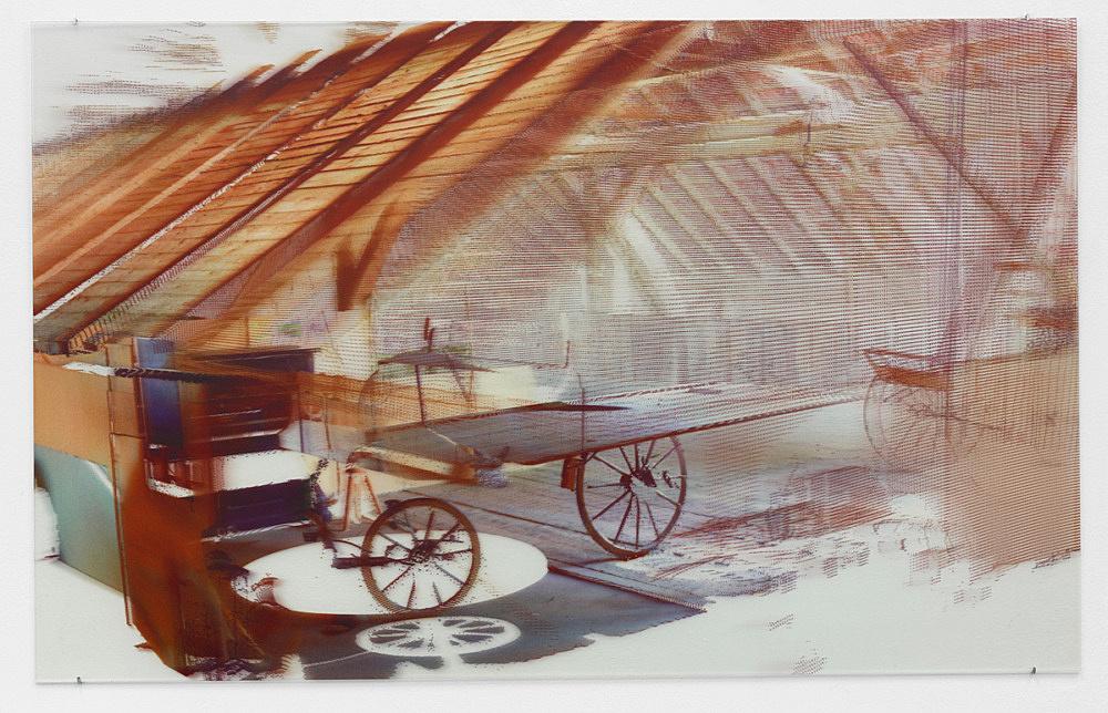 "Loretta Fahrenholz – ""Erlebnishof Millers, Scheune/Barn"", 2015 digital print on lenticular foil 72 x 114 cm"