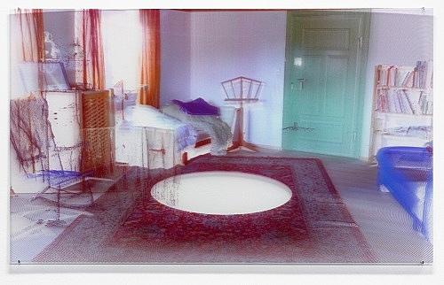 "Loretta Fahrenholz – ""Erlebnishof Millers, Music Room"", 2015 digital print on lenticular foil 69 x 114.5 cm"