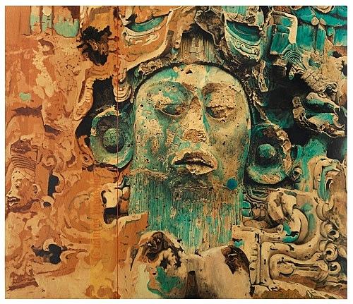 "Udo Lefin – ""Ohne Titel (Cuántos pasos me regalas)"", 1986 Pigment und Lack auf Holz 180 x 200 cm"