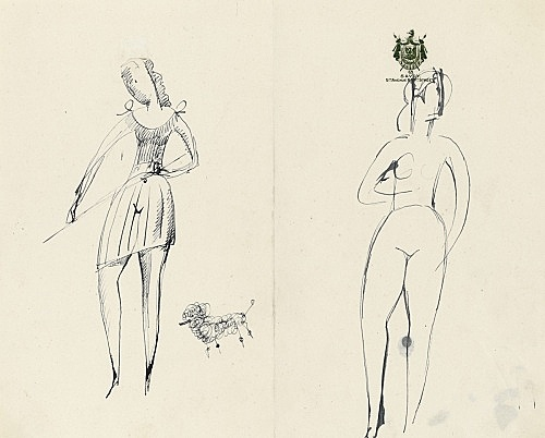 Elie Nadelman – Untitled, n.d. ink on paper (Savoy Hotel, NY stationery) 20 x 24,8 cm