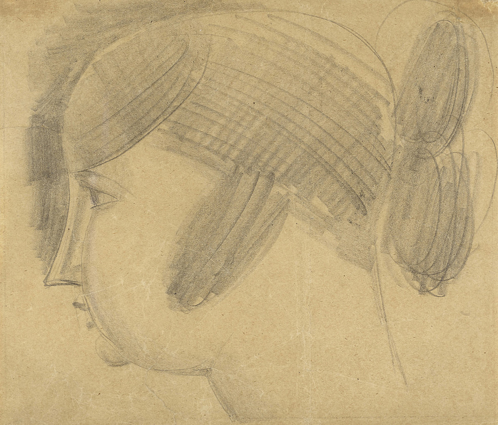 Elie Nadelman – Untitled, ca. 1921 pencil on paper 18,6 x 22 cm