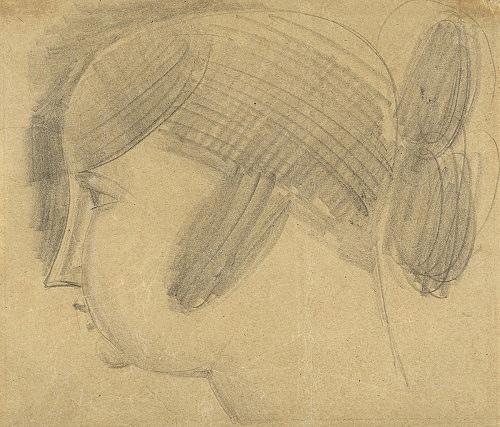 Elie Nadelman – Untitled, ca. 1921 pencil on paper 18,6 x 22 cm