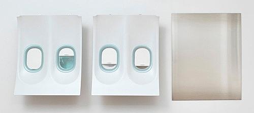 Isa Genzken – Untitled, 2014 3 parts, plastic, metal, plastic foil 129 x 105 x 21.5 cm 129 x 105 x 21.5 cm 150 x 120 cm