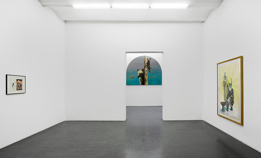 """Udo Lefin – """"Bilder und Zeichnungen 1983-1992"""" installation view Galerie Buchholz, Köln 2015"""