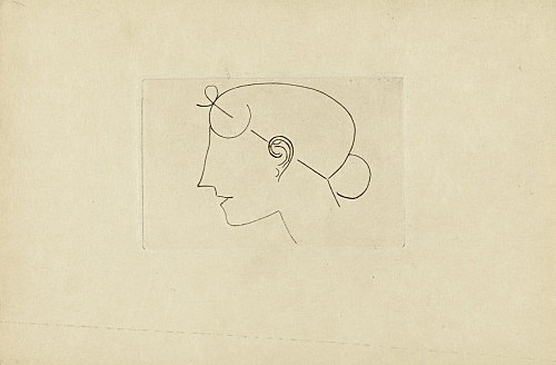 "Elie Nadelman – ""Untitled (Head Female)"", ca. 1921 pencil on paper 15 x 22,5 cm"