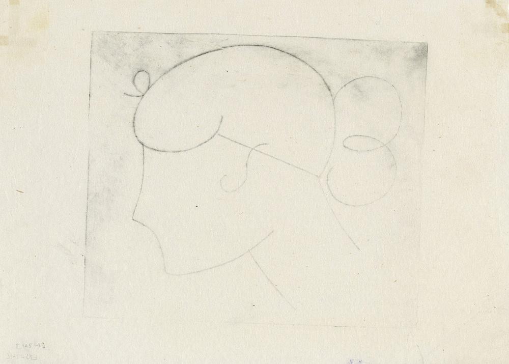 Elie Nadelman – Untitled, ca. 1921 etching 19,5 x 27 cm