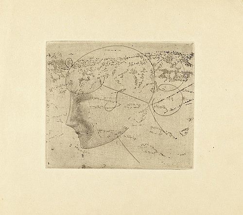 "Elie Nadelman – ""Untitled (Head Woman)"", ca. 1921 etching 26 x 29 cm"