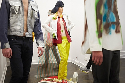"Isa Genzken – presentation of ""Hemden"", 1998, Galerie Buchholz, Berlin 1 May 2015"