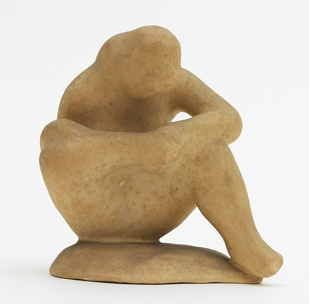 "Elie Nadelman – ""Spinario-Seated Woman"", ca. 1930–1935 papermache 18 x 15 x 15 cm"