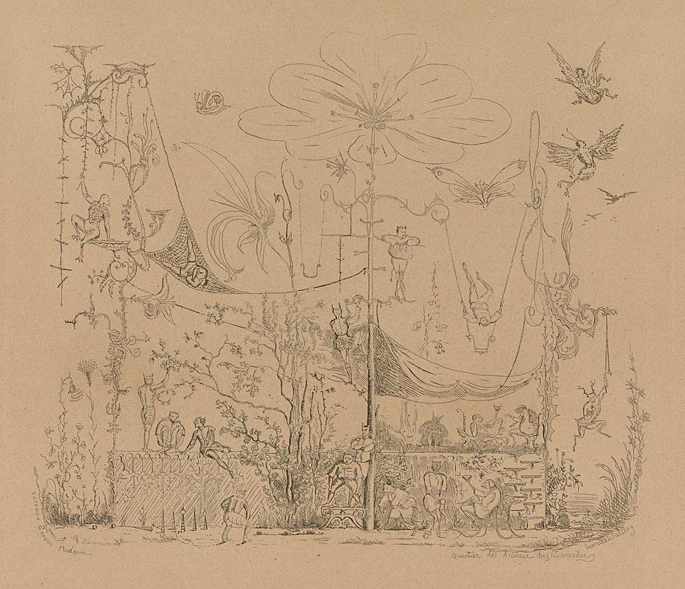 """Victorien Sardou – Victorien Sardou """"Quartier des Animaux chez Zoroastre"""", 1860 Etching 45,8 x 59,9 cm"""