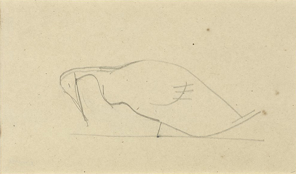 Elie Nadelman – Untitled, n.d. pencil on paper 10.6 x 17.7 cm