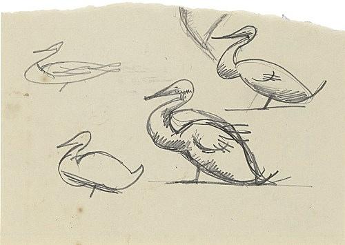 Elie Nadelman – Untitled, n.d. pencil on paper 10.1 x 14.2 cm