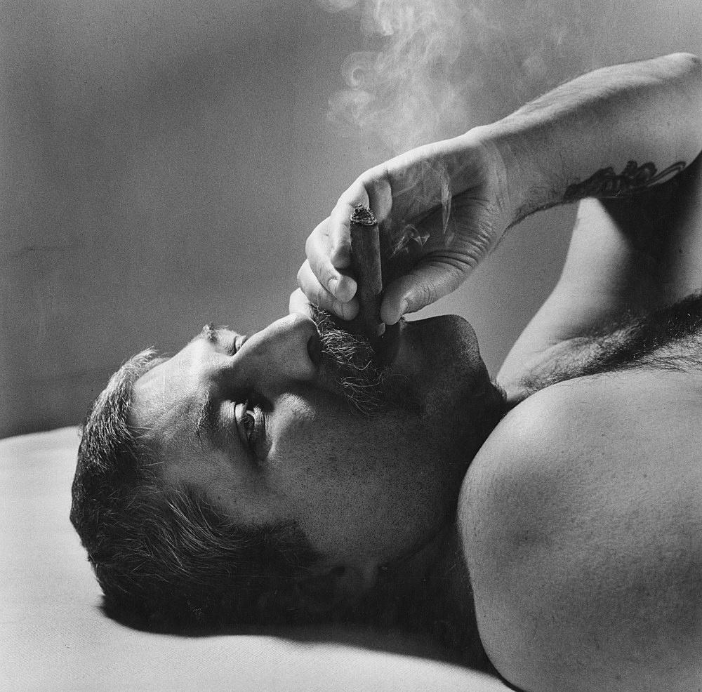 """Peter Hujar – """"Chuck Gretsch (With Cigar)"""", 1981 gelatin-silver print 50.8 x 40.6 cm"""
