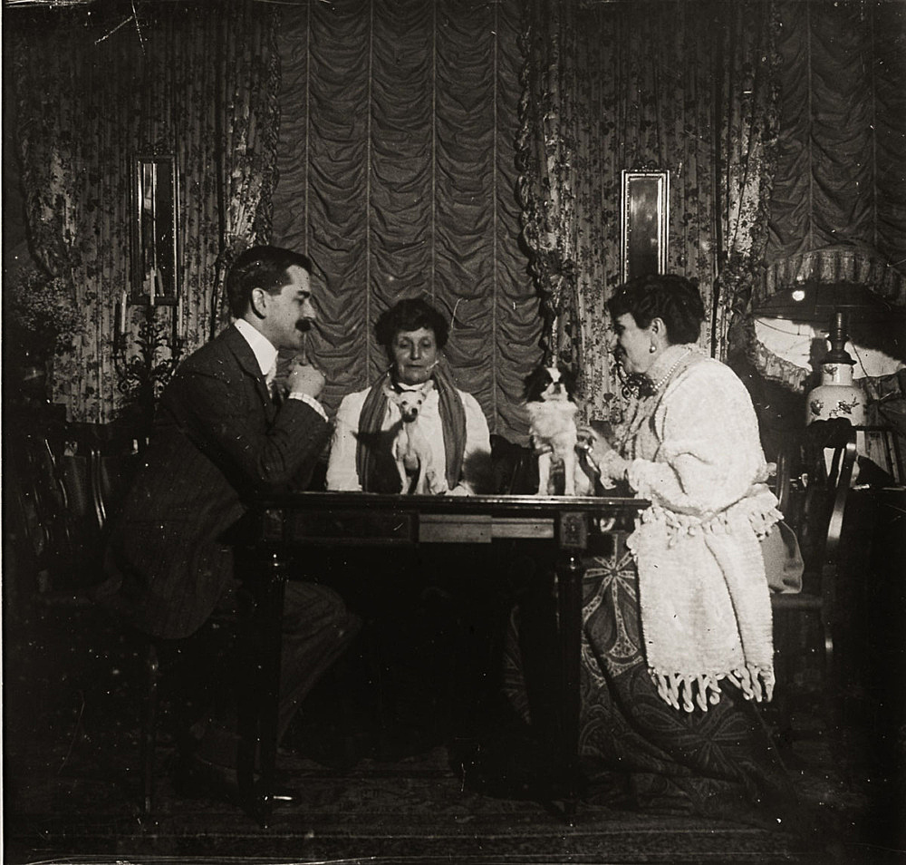 "– ""Raymond Roussel in the salon of his mother Marguerite Roussel"", Paris, ca. 1900 b/w photograph"