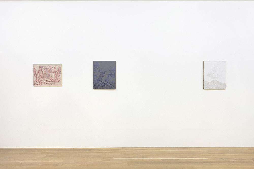 Sergej Jensen – installation view Galerie Buchholz, New York 2015