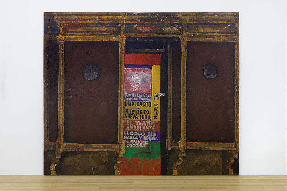 """Martin Wong – """"Untitled (Poetry Storefront)"""", 1986 acrylic on canvas 244 x 289.5 cm"""