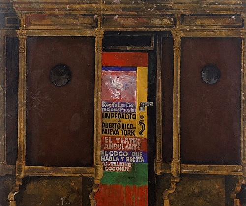 "Martin Wong – ""Untitled (Poetry Storefront)"", 1986 acrylic on canvas 244 x 289.5 cm"