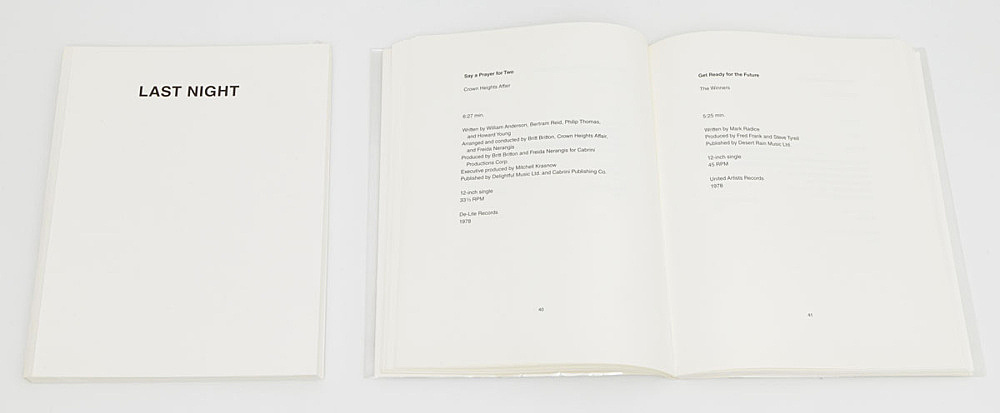 "Martin Beck – ""Last Night"", 2013 ""Last Night: Errata"", 2014 ""Last Night: Errata, Vol. 2"", 2015 publications"