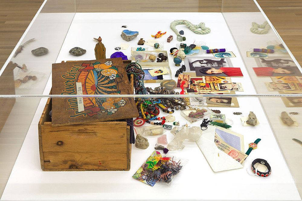 – Magic Box, undated pine box, nails, green and orange paint, masking tape 20.5 x 28 x 43 cm David Wojnarowicz Papers Fales Library and Special Collections, New York University installation view Galerie Buchholz, New York 2015