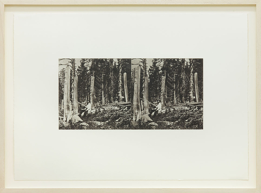 "Danh Vo – ""Snowfall, Northern Sierras, 1847"", 2014 b&w photogravure on paper 41 x 48.5 cm"