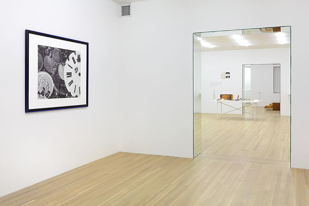 """Julie Ault – """"afterlife"""" installation view Galerie Buchholz, New York 2015 with mirrored passageways inspired by Liberace (1919 –1987) as seen in one of his Las Vegas homes"""