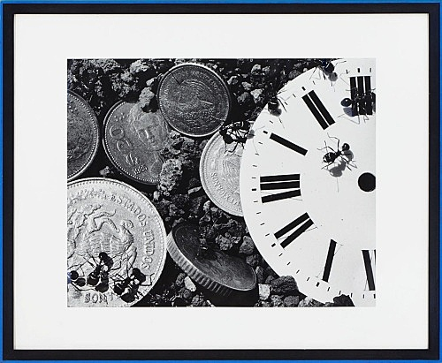 "David Wojnarowicz – ""Untitled from Ant Series (time/money)"", 1988 gelatin silver print in artist frame 102 x 124 cm"