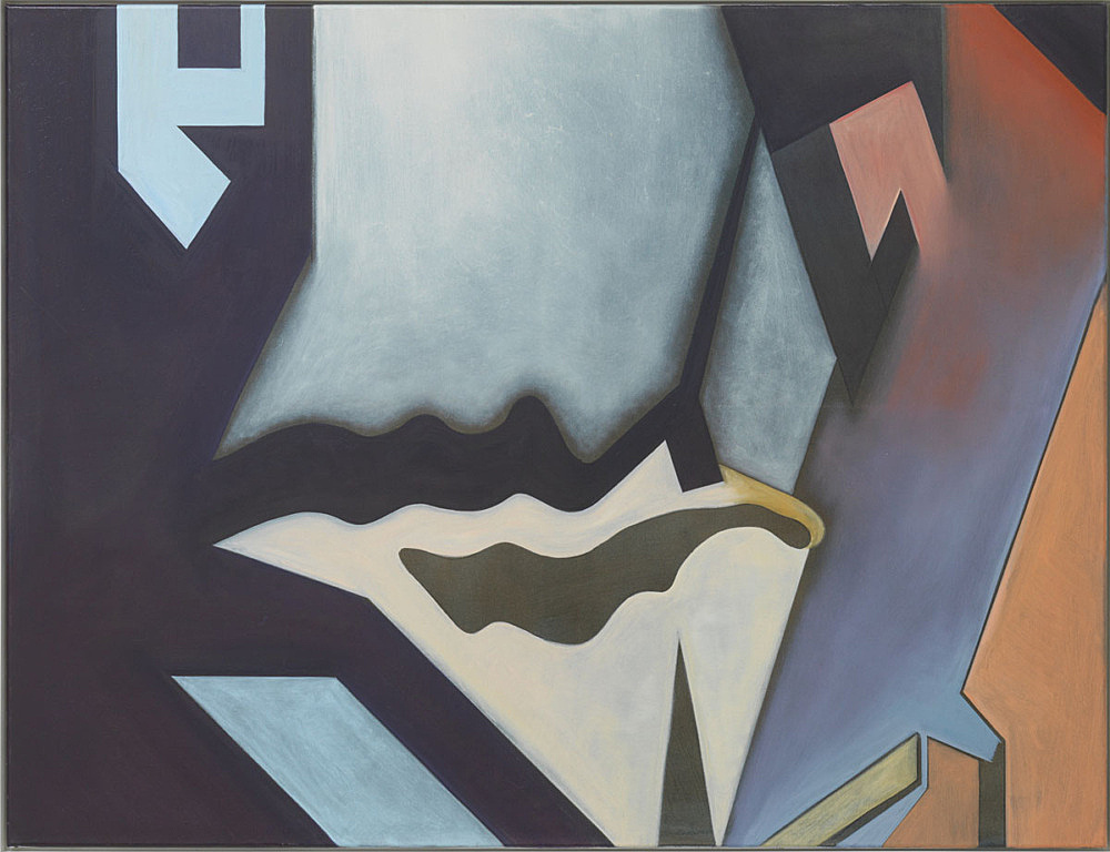 """Lucy McKenzie – """"Breche abstract"""", 2015 oil on canvas in artist frame framed 94,5 x 122,5 x 4 cm"""