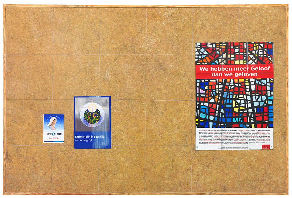 """Lucy McKenzie – """"Quodlibet LV (Maid's pinboard)"""", 2015 oil on canvas 300 x 200 x 2,5 cm"""