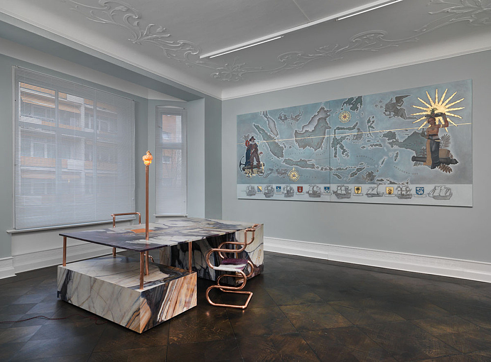 """Lucy McKenzie – """"Inspired by an Atlas of Leprosy"""" installation view Galerie Buchholz, Berlin 2015"""