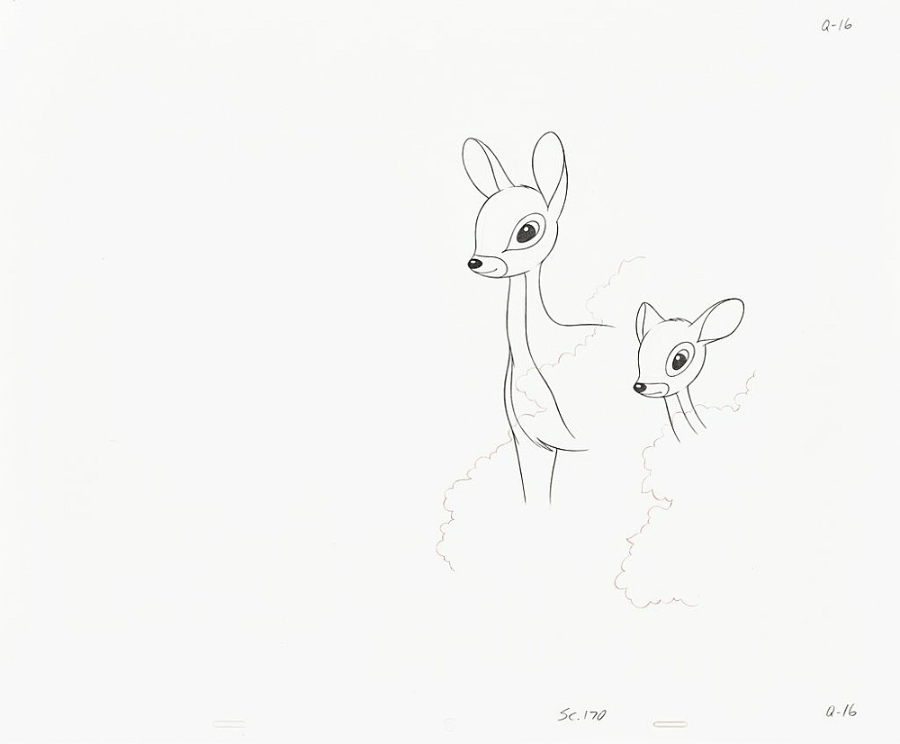 """Mathias Poledna – """"Untitled (animation drawing)"""", 2013 – 2015 50 parts, graphite and red pencil on punched 16 field animation bond paper each 34,3 x 41,9 cm (framed each 43 x 51 cm)"""