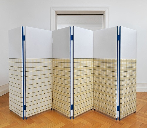 "Atelier E.B – ""Paravent IX (Mirrored Blond Vein/Tartan)"", 2015