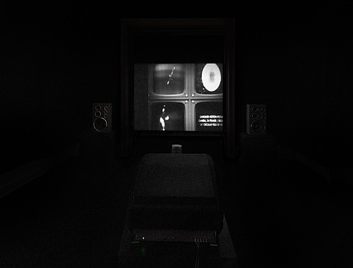 "Mark Leckey – ""Dream English Kid, 1964 - 1999 AD"", 2015 4:3 film, 5.1 surround sound 23 min. installation view Galerie Buchholz, Berlin 2016"