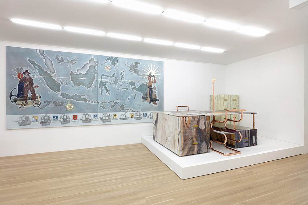 """Lucy McKenzie – """"Inspired by Inspired by"""" installation view Galerie Buchholz, New York 2016"""
