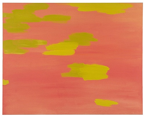 "Richard Hawkins – ""Pinkish orange with green"", 2000 oil on canvas 61 x 77 cm"