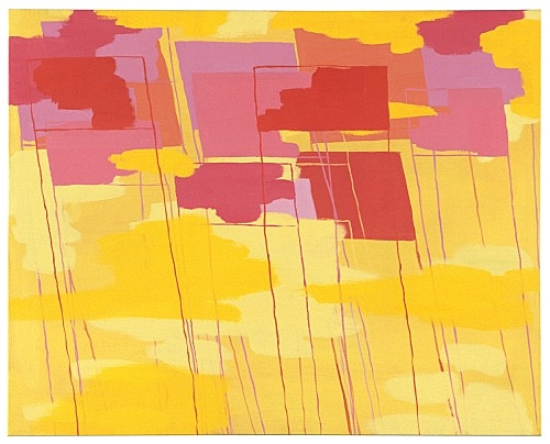 "Richard Hawkins – ""Yellow with pinks"", 2000 oil on canvas 61 x 77 cm"
