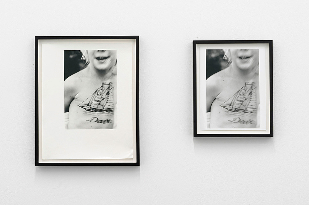 Lutz Bacher – Boat, 1975 two b&w photographs, framed vintage prints left: image size 24 x 16 cm paper size 35,2 x 27,5 cm framed 39,5 x 31,8 x 3 cm right: image size 23,8 x 16 cm paper size 25,4 x 20,3 cm framed 29,2 x 24,5 x 3 cm
