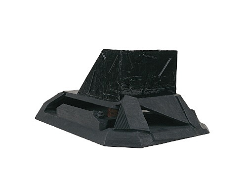 Vincent Fecteau – Untitled, 2002 papier-maché, acrylic, wood 25.5 x 38 x 50 cm