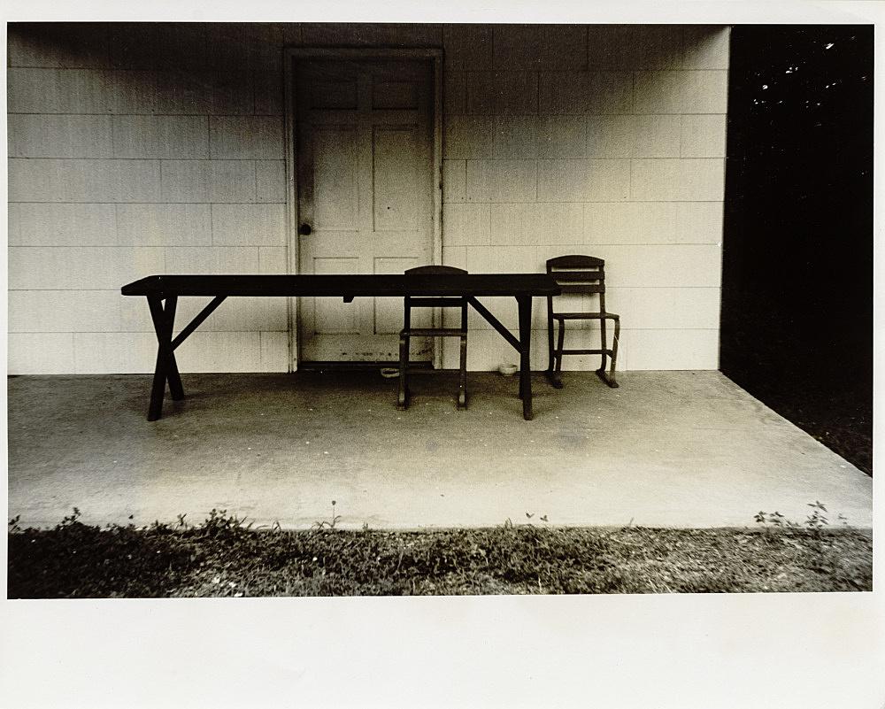 Lutz Bacher – Untitled, 1973 b&w photograph, framed vintage print image size 16,2 x 24,2 cm paper size 20,3 x 25,4 cm framed 24,3 x 29,5 x 3 cm