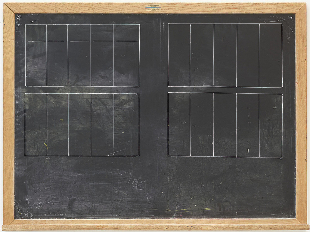 Lutz Bacher – Chalkboard (Space), 2015 wood, board, chalkboard paint, acrylic 92 x 122 x 8,5 cm
