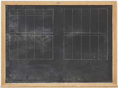 Lutz Bacher – Chalkboard (Space), 2015