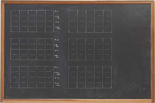 Lutz Bacher – Chalkboard (Time), 2015