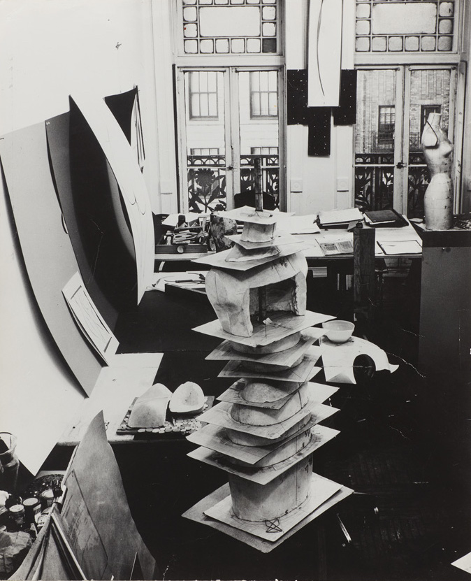 "Bill Cunningham – photograph of the ""flexible sculpture"" in Charles James' room at the Chelsea Hotel, c. 1965 vintage print Collection Homer D. Layne"