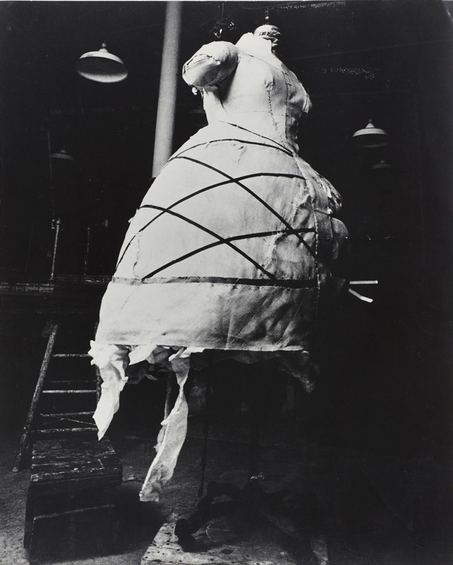 Bill Cunningham – photograph of the padded dress form for Lee Krasner at The Art Student's League of NY, c. 1961 vintage print Collection Homer D. Layne