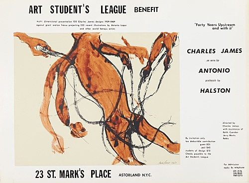 "– Subway poster for the Electric Circus Show, Art Student League Benefit including Charles James drawing ""Indecision"", 1969 screenprint 65 x 89 cm"