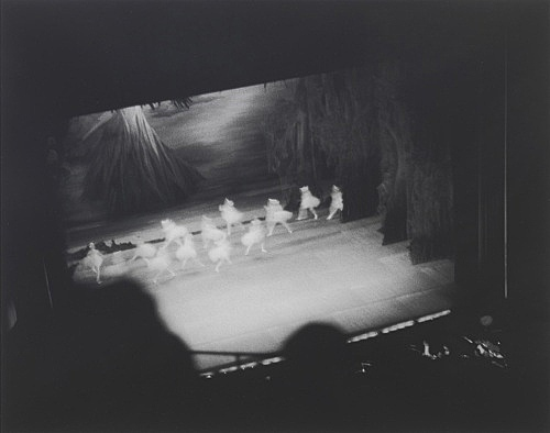 "Louise Lawler – ""Swan Lake (Lincoln Center)"", 1982 b/w photograph 33 x 41 cm"