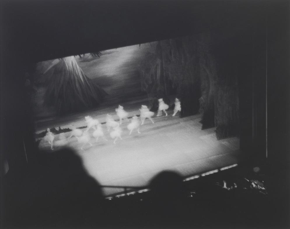 "Louise Lawler – ""Swan Lake (Lincoln Center)"", 1982 b/w photograph 33 x 41 cm"